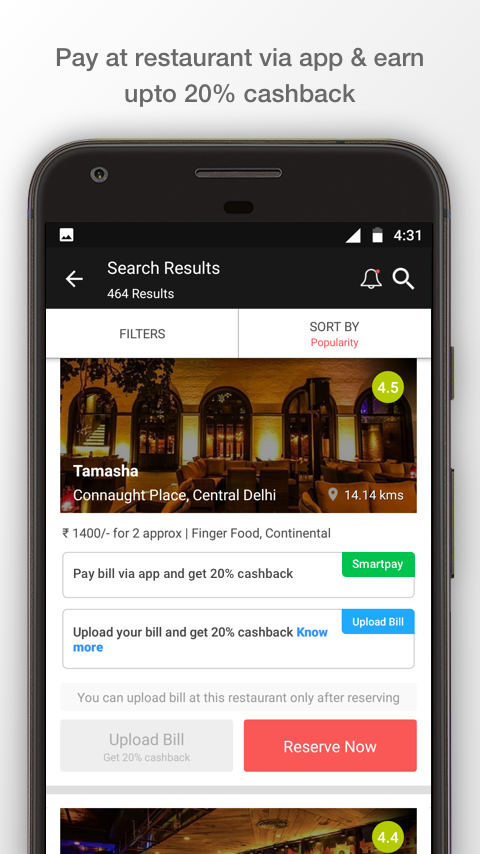 Dineout: Restaurant Booking, Reviews & Food Deals- screenshot