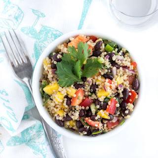 Crazy Easy Black Bean and Mango Quinoa Salad.
