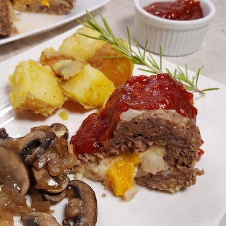 Pressure Cooker Cheeseburger Meatloaf and Rosemary Potatoes.