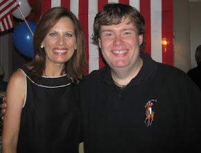 Photo: Michele Bachmann and John Hawkins. Myrtle Beach, SC. Aug 18, 2011