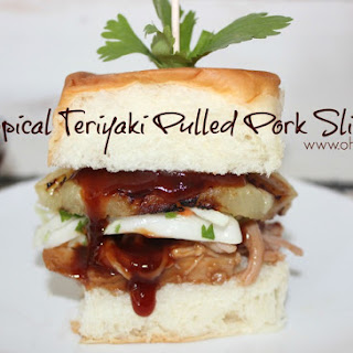 ~Tropical Teriyaki Pulled Pork Sliders!