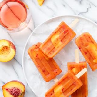 Peach Rosé Popsicles Recipe