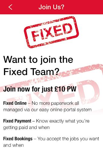 Fixed Tradesman Signup