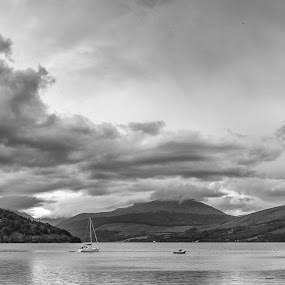 Loch Fyne Mono by Jolyon Vincent - Landscapes Mountains & Hills