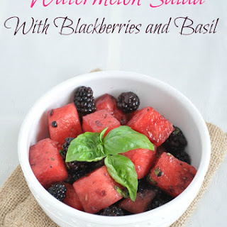 Watermelon Salad with Blackberries and Basil