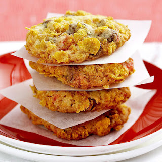 Chocolate Corn Flake Cookies.