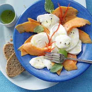 Papaya and Mozzarella Carpaccio