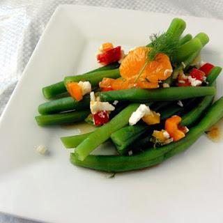 Green Beans with Tangerine Dill Vinaigrette