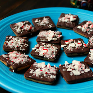 Chocolate Peppermint Shortbread Cookies.