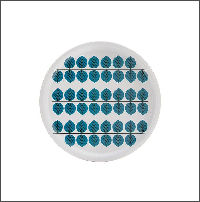 Bricka Berså rund blå