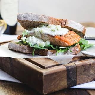 Salmon 'n Tzatziki (ultimate) Sandwich.