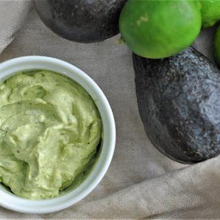 Avocado Lime Sour Cream Sauce.