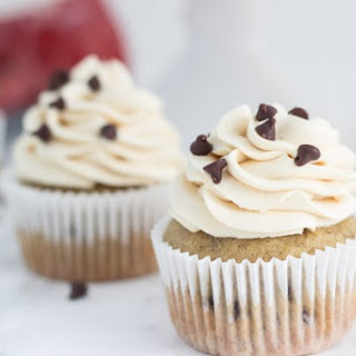 Chocolate Chip Banana Cupcakes with Peanut Butter Frosting.