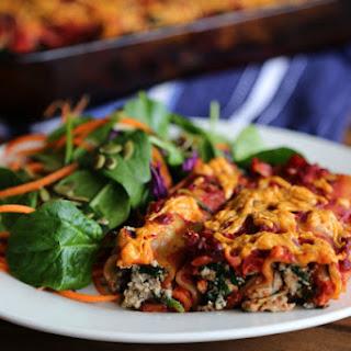 Spinach and Tofu Ricotta Cannelloni.
