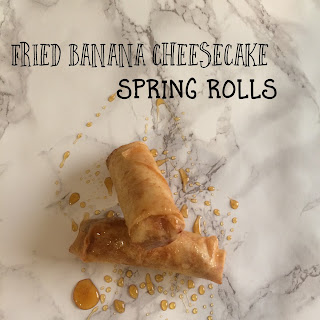 Fried Banana Cheesecake Springrolls