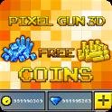 Coins For Pixel Gun 3D Prank icon