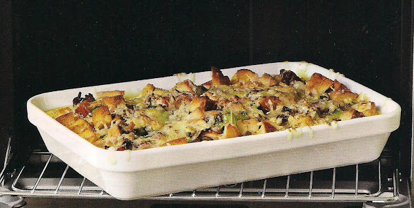 Bagel Strata With Sausage And Spring Vegetables Recipe