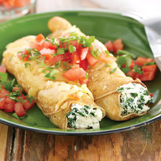 Spinach and Ricotta Crêpes.