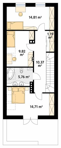 Koliber CE - Rzut poddasza