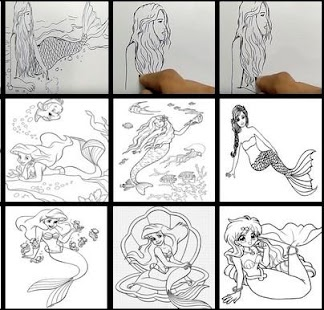 learn to draw mermaid - náhled