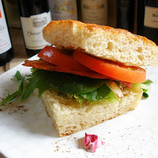 BLT with Pesto Goat Cheese