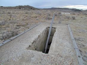 Photo: Narrow, deep hole