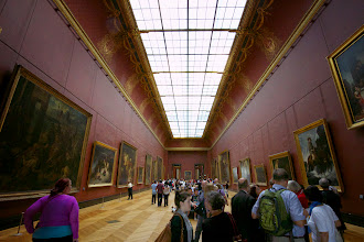 Photo: The galleries in the Louvre stretch on for what felt like kilometers. No drinks for the thirsty.