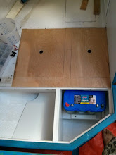 Photo: test fitting new quarterberth deck pieces
