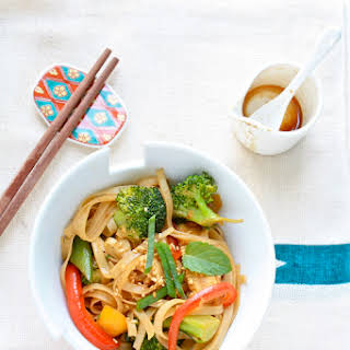 Spicy Noodle Stir-Fry with Vegetables.