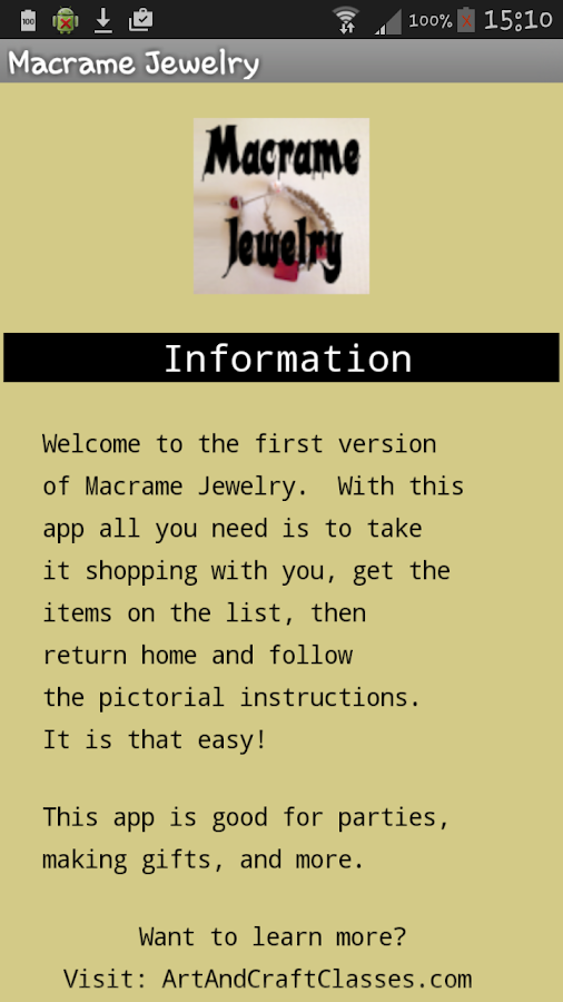 Macrame Jewelry- screenshot