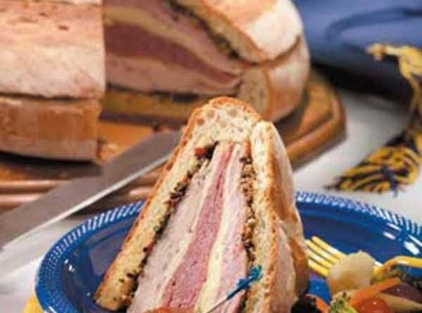 The Garlic-olive Paste Is Delicious! Chock Full Of Good Stuff For This Muffuletta.