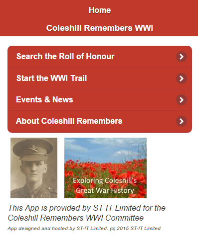Coleshill Remembers WWI