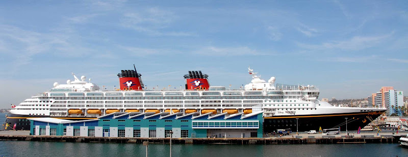 Disney Wonder visits the Port of San Diego.