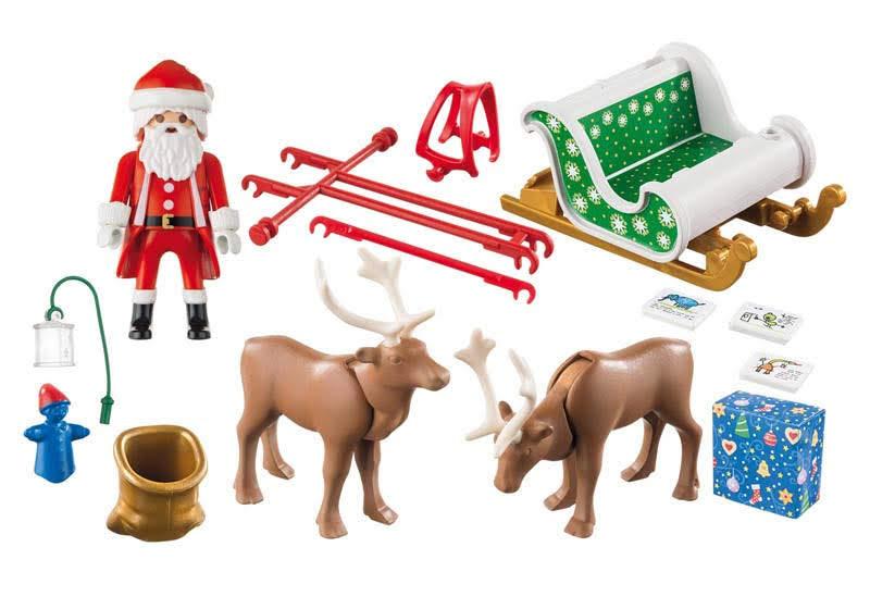 Contenido real de Playmobil® 9496 Trineo de Papá Noel con Reno