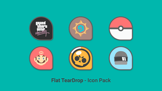 Download Flat TearDrop - Icon Pack For PC Windows and Mac apk screenshot 6