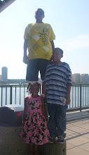 Photo: Miles, Jihad & Kaleya perch like pelicans on the posts