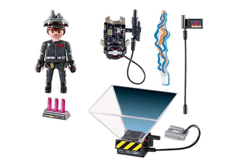 Contenido real de Playmobil® 9348 Cazafantasmas Raymond Stantz