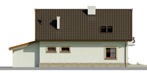 Dom przy Alabastrowej 17 - Elewacja tylna