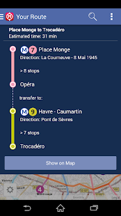 Paris Metro Map - Route Plan- screenshot thumbnail