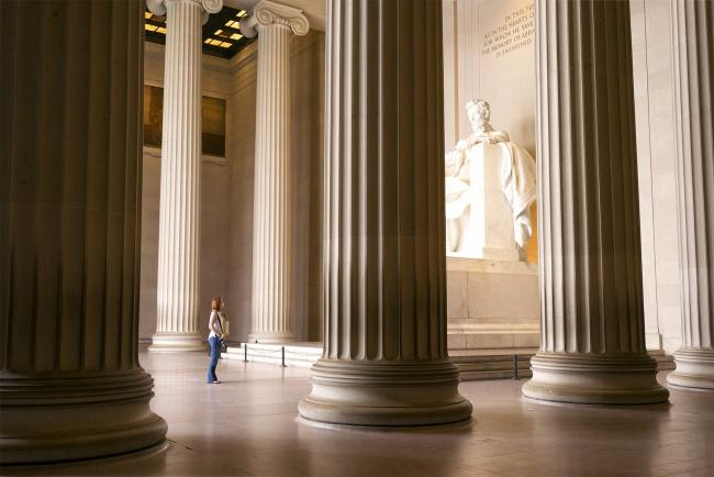 lincoln memorial from inside