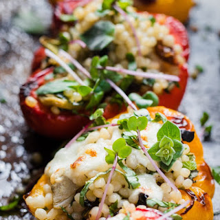 Cous Cous Stuffed Peppers.