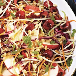 Cherry, Apple & Broccoli Slaw With Pine Nuts.