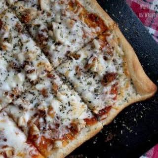 Chicken Parmesan Pizza.