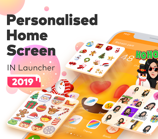 Download IN Launcher - Love Emojis & GIFs, Themes MOD APK 1