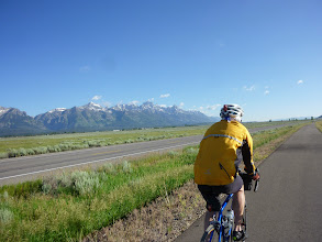 Photo: Day 18 Jackson Hole to Dubois WY 88 miles 4450' climbing: Riding along the Tetons