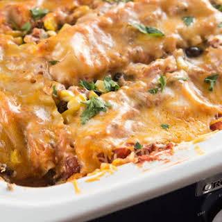 Slow Cooker Mexican Lasagna.