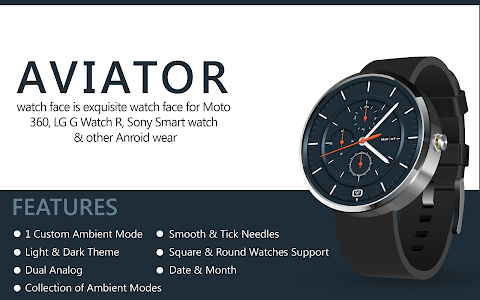 Aviator HD Watch Face screenshot 2