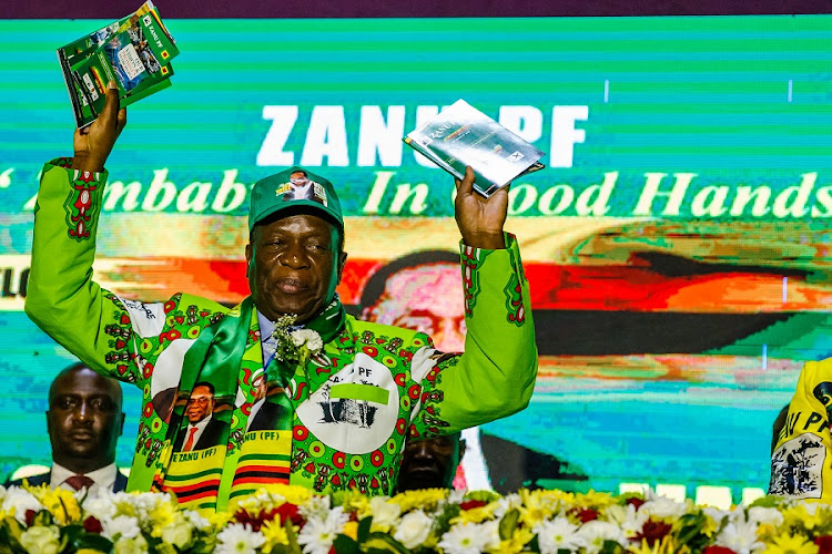 Members of the Zimbabwe ruling party ZANU-PF applaud their leader Emmerson Mnangagwa. Picture: SUPPLIED