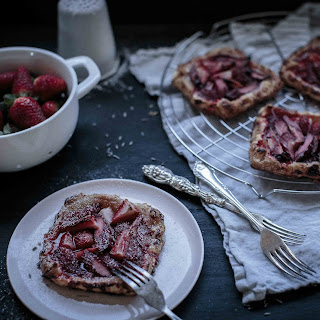 Rhubarb, Strawberry and Lavender Galettes Recipe