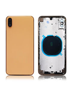 iPhone XS Max Back Housing without logo High Quality Gold
